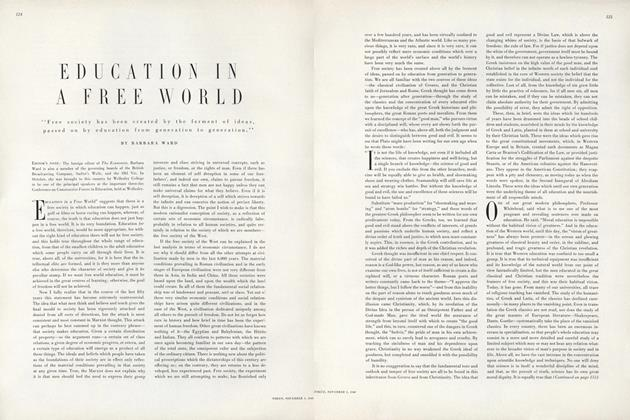 Article Preview: Education In a Free World, November 1 1949 | Vogue