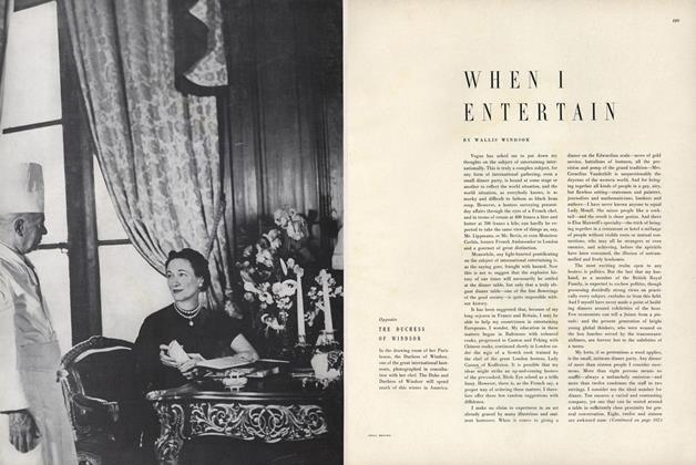 Article Preview: When I Entertain, November 15 1949 | Vogue