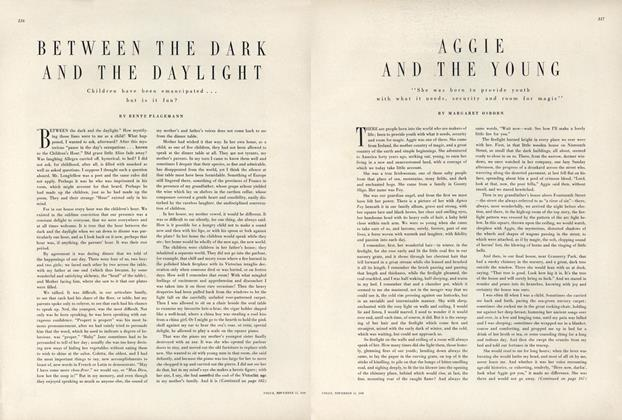 Article Preview: Aggie and the Young, November 15 1949 | Vogue