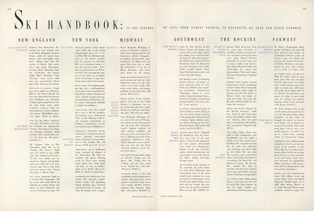 Article Preview: Ski Handbook: 24 Ski Centres, 69 Inns, From Almost Nothing to Expensive, November 15 1949 | Vogue