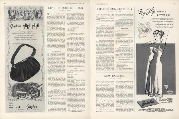 Article Preview: Kitchen Success Story, November 15 1949 | Vogue