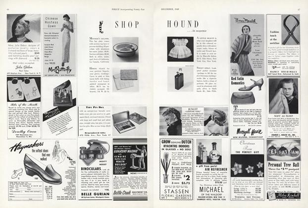 Article Preview: Shop Hound...In suspense, December 1949 | Vogue