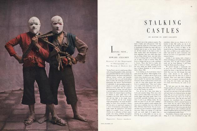 Article Preview: Stalking Castles, December 1949 | Vogue