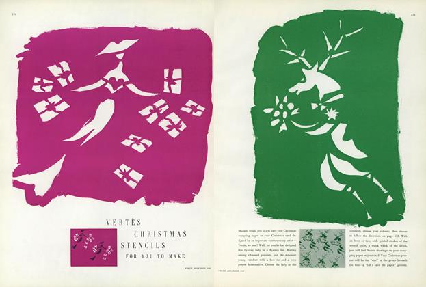 Article Preview: Vertes Christmas Stencils for You to Make, December 1949 | Vogue