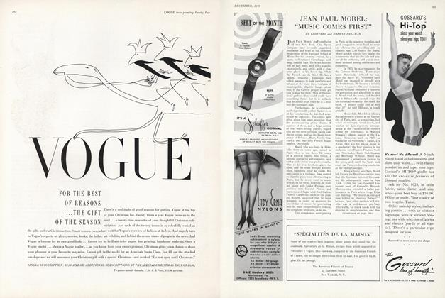 "Article Preview: Jean Paul Morel: ""Music Comes First"", December 1949 