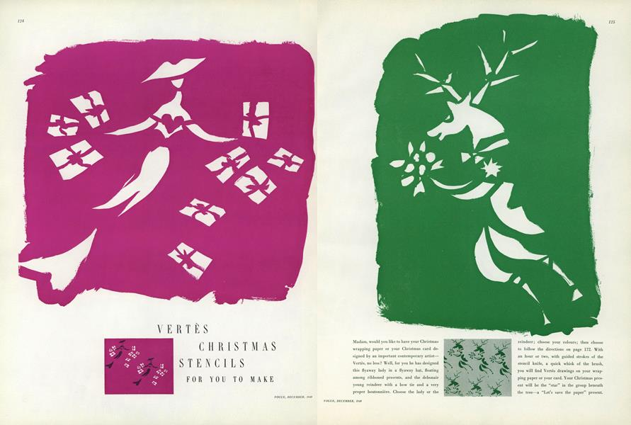 Vertes Christmas Stencils for You to Make