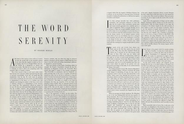 Article Preview: The Word Serenity, January 1950 | Vogue