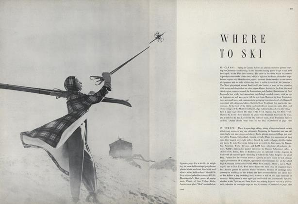 Article Preview: Where To Ski: In Canada, In Europe, January 1950 | Vogue