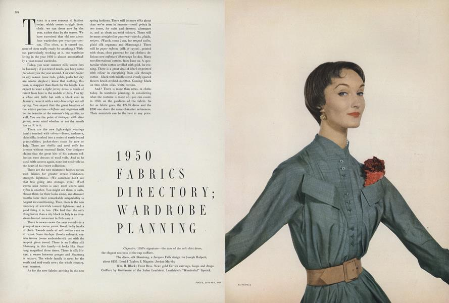 1950 Fabrics Directory; Wardrobe Planning