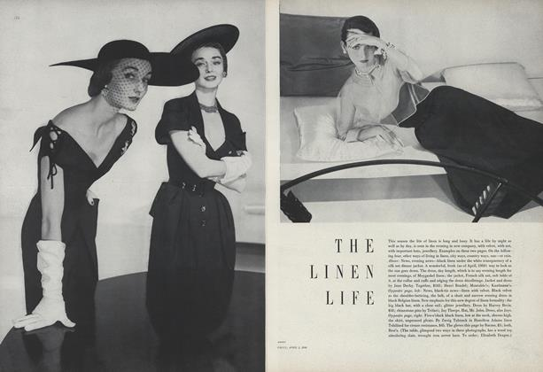 Article Preview: The Linen Life, April 1 1950 | Vogue