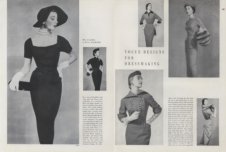 Vogue Designs for Dressmaking: Six to Make a Dress Wardrobe