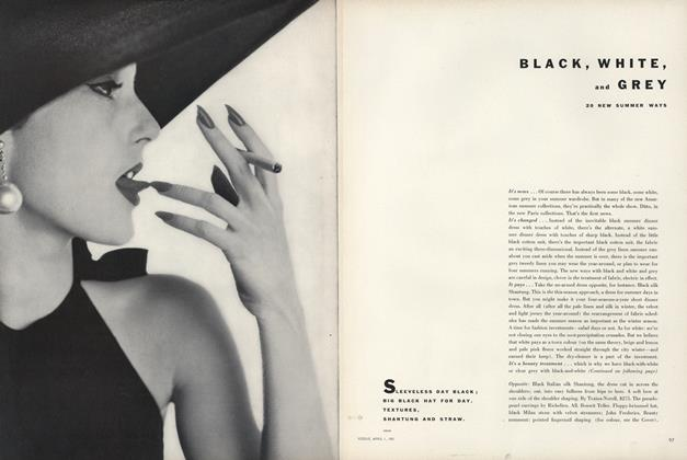 Article Preview: Black, White, and Grey, April 1 1951 | Vogue