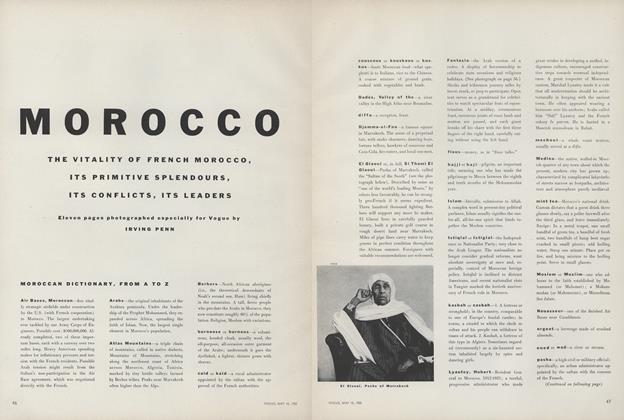 Article Preview: Morocco: The Vitality of French Morocco, May 15 1952 | Vogue