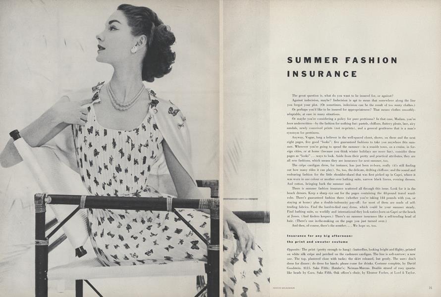 Summer Fashion Insurance
