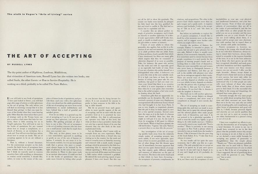 The Art of Accepting