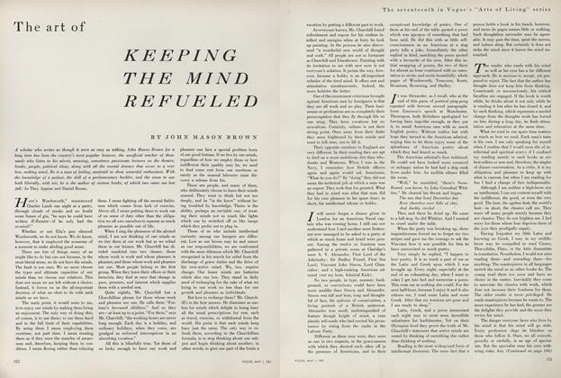 The Art of Keeping the Mind Refueled