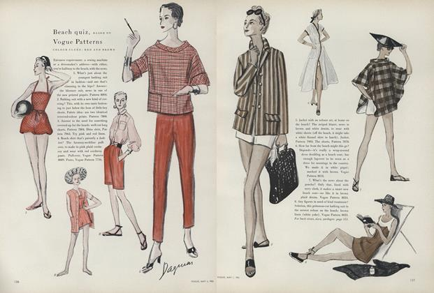 Beach Quiz, Based on Vogue Patterns: Colour Clues: Red and Brown