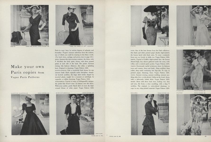 Make Your Own Paris Copies from Vogue Paris Patterns