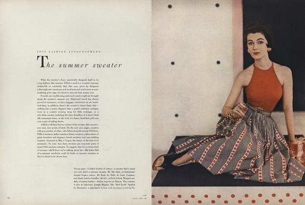 1953 Fashion Announcement: The Summer Sweater
