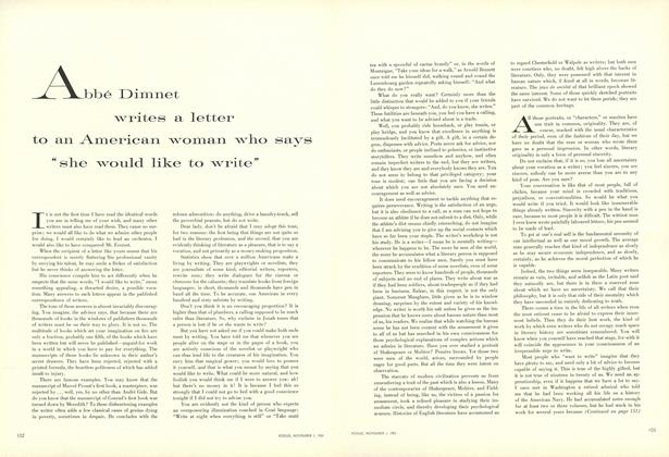 """Abbe Dimnet Writes a Letter to an American Woman who Says """"She Would Like to Write"""""""