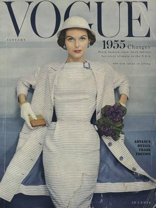 Cover for the January 1955 issue