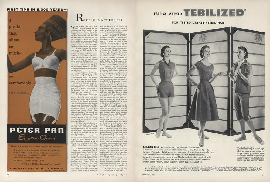 Romania In New England Vogue March 1 1955