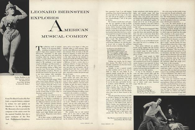 Leonard Bernstein Explores American Musical Comedy