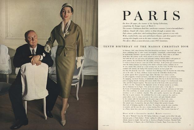 Article Preview: Tenth Birthday of the Maison Christian Dior, March 15 1957 | Vogue