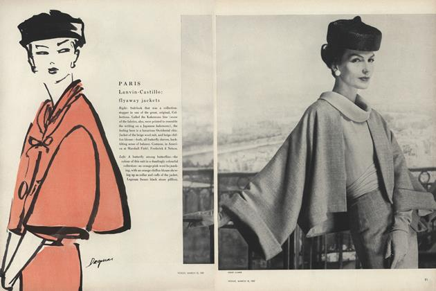 Article Preview: Paris: Lanvin-Castillo: Flyaway Jackets, March 15 1957 | Vogue