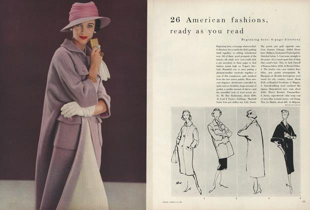 Article Preview: 26 American Fashions, Ready as You Read, March 15 1957 | Vogue