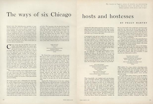 Article Preview: The Ways of Six Chicago Hosts and Hostesses, March 15 1957 | Vogue
