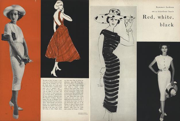 Summer Fashion on a Tricolour Basis: Red, White, Black