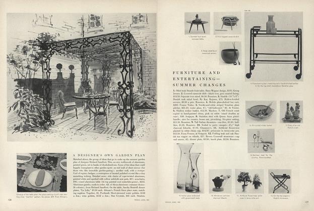 A Designer's Own Garden Plan/Furniture and Entertaining - Summer Changes