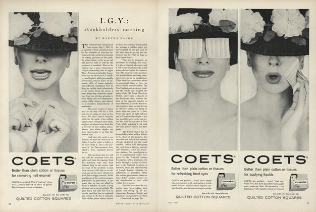 Article Preview: I. G. Y. Stockholders' Meeting, July 1957 | Vogue