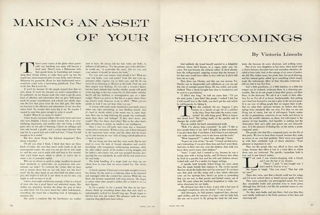 Article Preview: Making An Asset of Your Shortcomings, July 1957 | Vogue