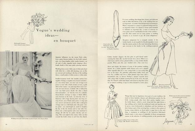 Article Preview: Vogue's Wedding Ideas - En Bouquet, July 1957 | Vogue
