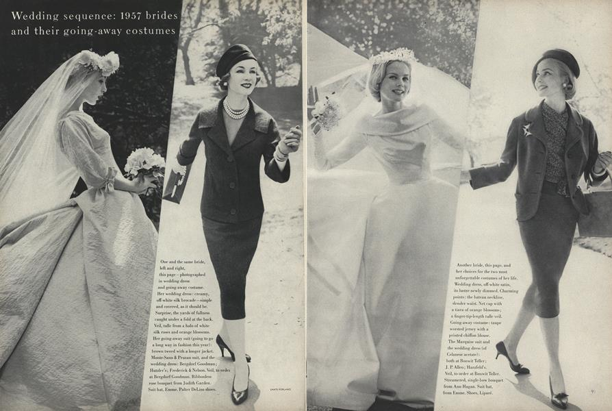 Wedding Sequence: 1957 Brides and Their Going-Away Costumes
