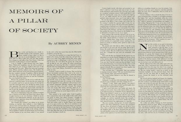 Memoirs of a Pillar of Society