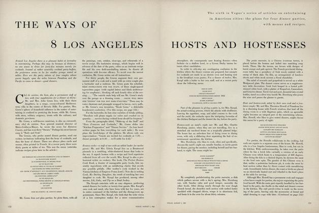 The Ways of 8 Los Angeles Hosts and Hostesses