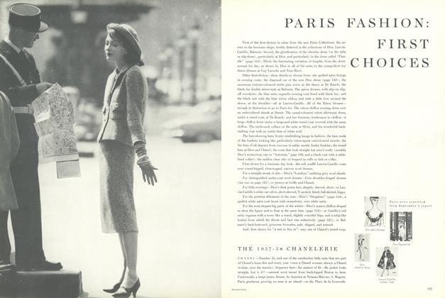 Paris Fashion: First Choices