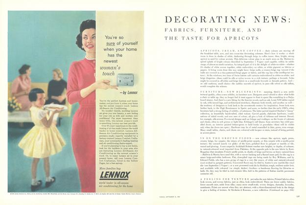 Decorating News: Fabrics, Furniture, and the Taste for Apricots