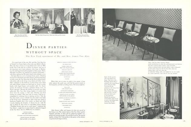 Dinner Parties Without Space: The New York Apartment of Mr. and Mrs. James Van Alen
