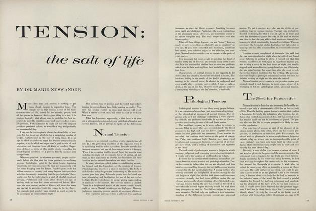 Tension: The Salt of Life