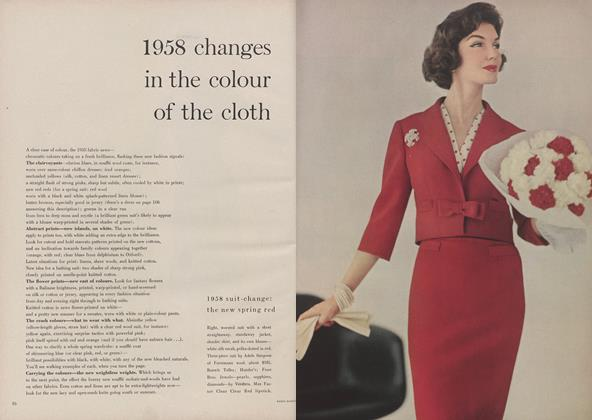 1958 Changes in the Colour of the Cloth