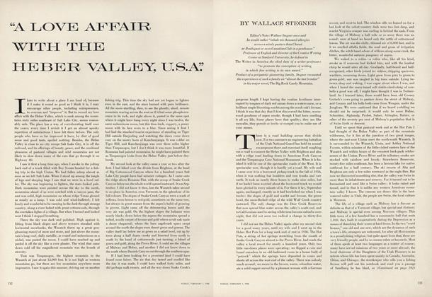 """A Love Affair with the Heber Valley, U.S.A."""