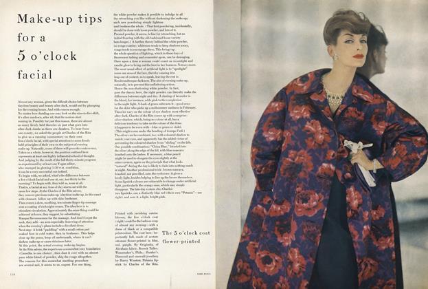 Make-up Tips for a 5 O'clock Facial/The 5 O'clock Coat Flower-printed