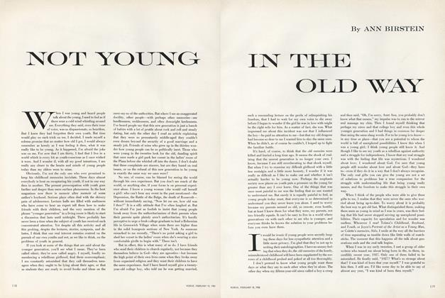 Not Young In the Old Way