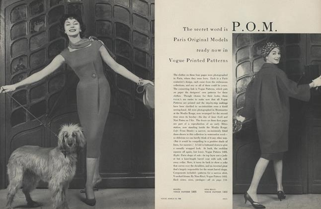 The Secret Word is P.O.M.: Paris Original Models Ready Now in Vogue Printed Patterns