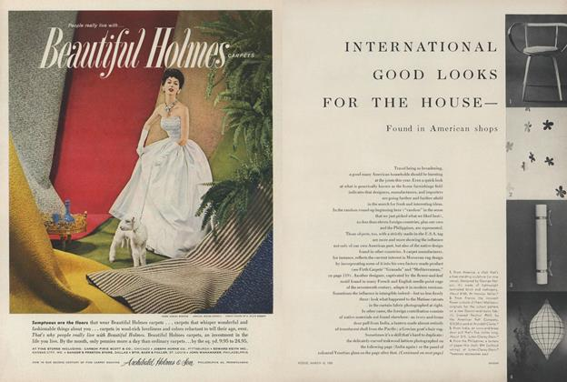International Good Looks for the House—Found in American Shops