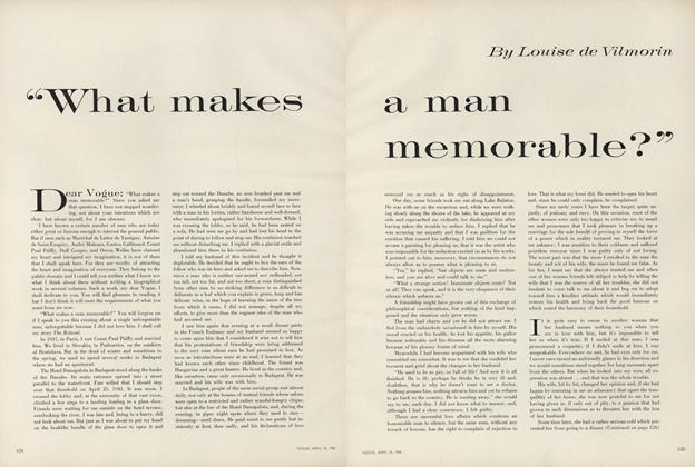 """What Makes a Man Memorable?"""